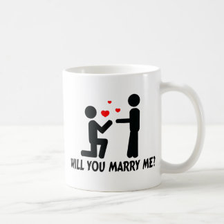 Will You Marry Me Bended Knee Man & Man Coffee Mug