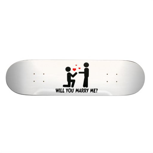 Will You Marry Me Bended Knee Man & Man Skate Decks