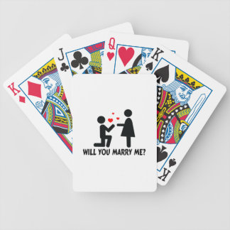 Will You Marry Me Bended Knee Man & Woman Bicycle Playing Cards
