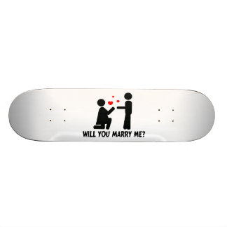 Will You Marry Me Bended Knee Woman & Man Custom Skateboard