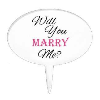 Will You Marry Me? Cake Toppers