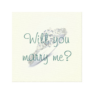 Will You Marry Me Canvas Gallery Wrapped Canvas