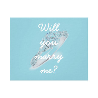 Will you marry me? gallery wrap canvas