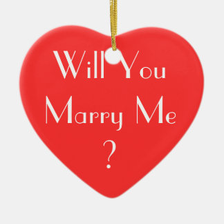 Will You Marry Me? Ceramic Heart Decoration