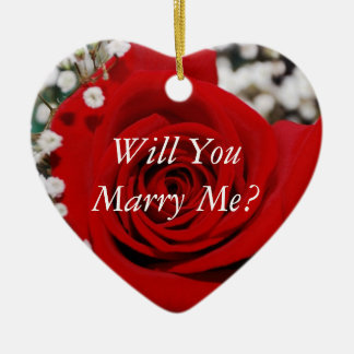 Will You Marry Me Ceramic Heart Decoration