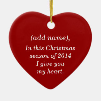 """WILL YOU MARRY ME"" CHRISTMAS ORNAMENT"