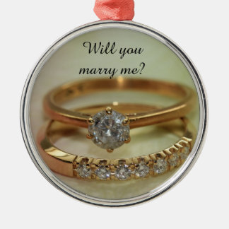 Will you marry me? Diamond ring ornament