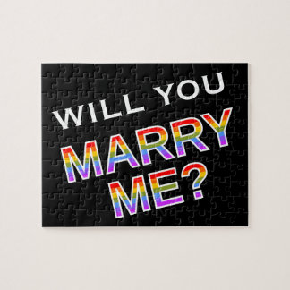 """""""WILL YOU MARRY ME?"""" Gay/Lesbian Marriage Proposal Puzzle"""