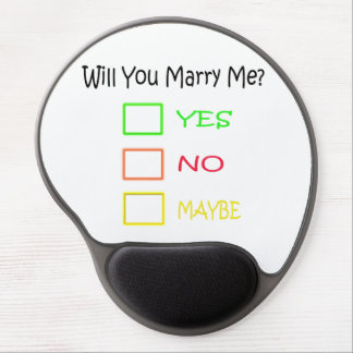Will You Marry Me? Gel Mouse Pad