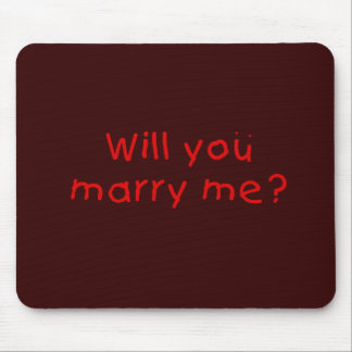 Will you marry me ? Gift Wrapper Magnet Pillow Pin Mouse Pad