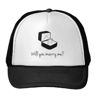 Will You Marry Me Mesh Hats