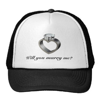 Will you marry me? mesh hats