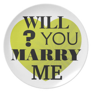 Will You Marry Me Heart Proposal Plate