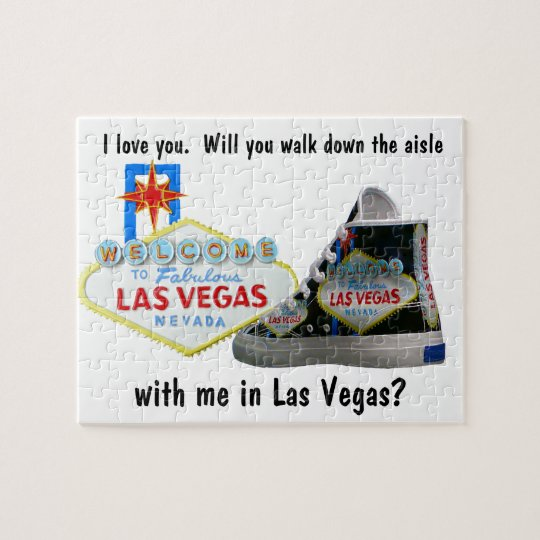 Will you Marry Me in Las Vegas Jigsaw Puzzle