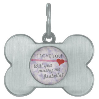 Will You Marry Me? Marriage Proposal Dog Tag