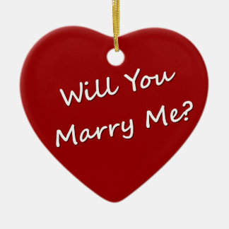 Will You Marry Me? Marriage Proposal Engagement Ceramic Heart Decoration