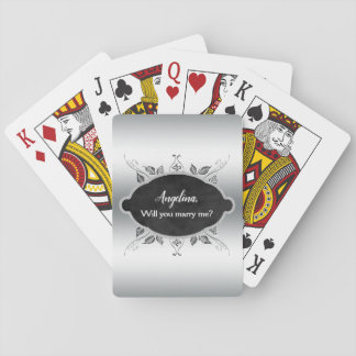 Will You Marry Me Marriage Proposal Personalized Playing Cards
