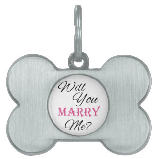 Will You Marry Me? Pet ID Tag