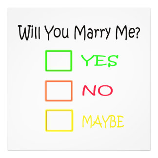 Will You Marry Me Photograph