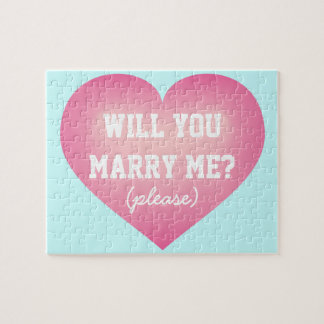 Will You Marry Me?  pink fade heart Jigsaw Puzzle