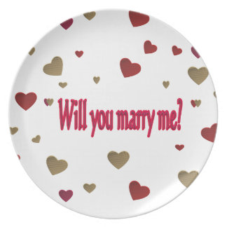 Will you marry me? plate