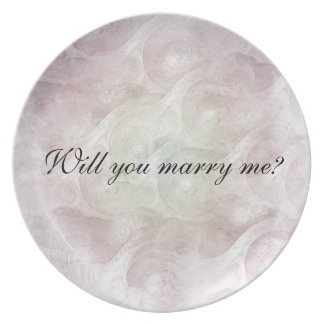 """Will you marry me?"" Plate"