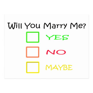 Will You Marry Me? Postcard