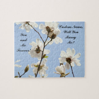 Will You Marry Me? proposal puzzle Blue Magnolias