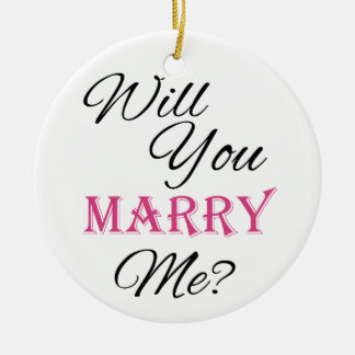 Will You Marry Me? Round Ceramic Decoration