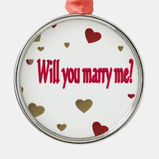 Will you marry me? Silver-Colored round decoration
