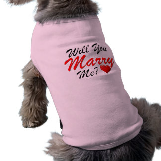 Will You Marry Me? Sleeveless Dog Shirt