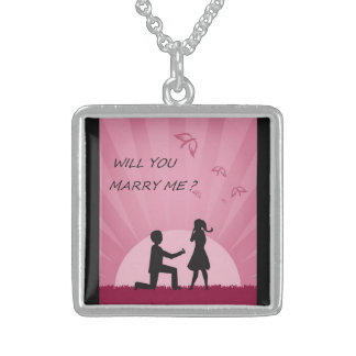"""WILL YOU MARRY ME?"""" STERLING SILVER NECKLACE"""