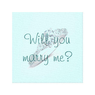Will you marry me? stretched canvas print