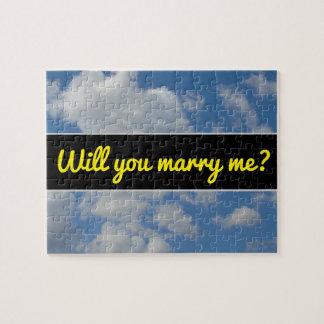 Will you marry me?; White/Gray Clouds and Blue Sky Jigsaw Puzzle