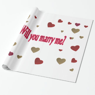 Will you marry me? wrapping paper