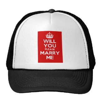 Will You Please Marry Me (Red) Cap