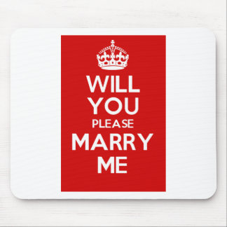 Will You Please Marry Me (Red) Mouse Pad