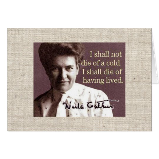 Willa Cather Card