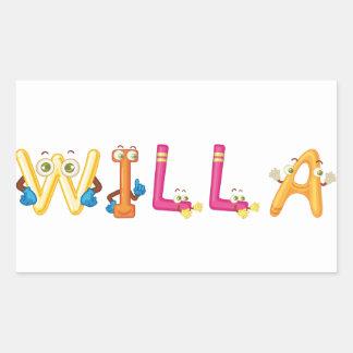Willa Sticker