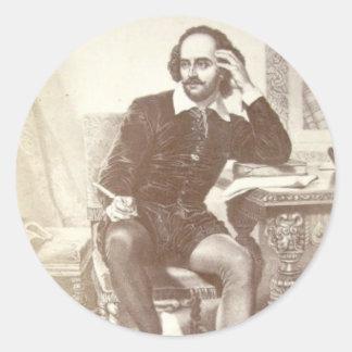 Willaim Shakespeare Round Sticker