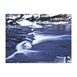 Willard Brook in Winter Canvas Print