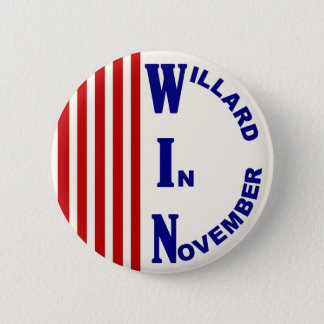 Willard In November Red, white & blue version 6 Cm Round Badge
