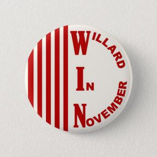 Willard In November with stripes 6 Cm Round Badge