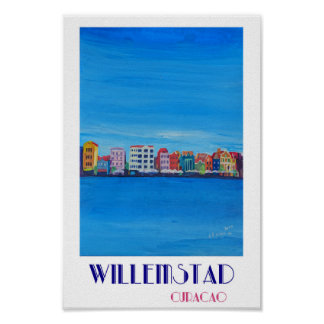 Willemstad Curacao Retro Poster