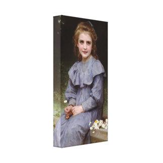 William-Adolphe Bouguereau - Daisies Canvas Print