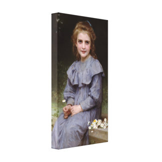 William-Adolphe Bouguereau - Daisies lg Stretched Canvas Print