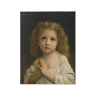 William Adolphe Bouguereau - Little Girl Wood Poster