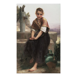 William-Adolphe Bouguereau-The Broken Pitcher Poster