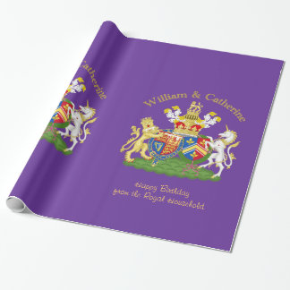 William and Catherine Royal Coat of Arms Wrapping Paper