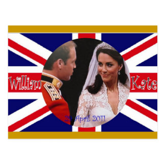 William and Kate Royal Wedding postcards